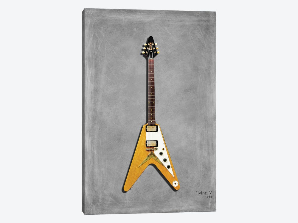 Gibson Flying V '58 by Mark Rogan 1-piece Art Print
