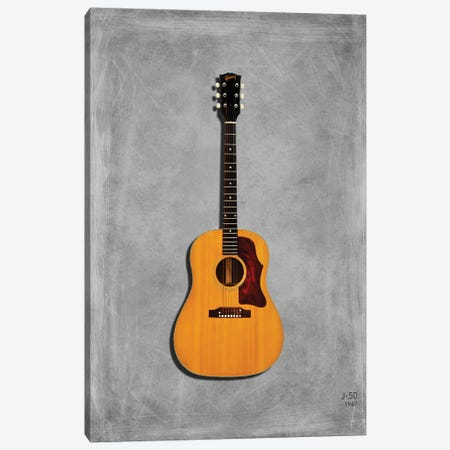 Gibson J50, 1967 Canvas Print #RGN431} by Mark Rogan Art Print