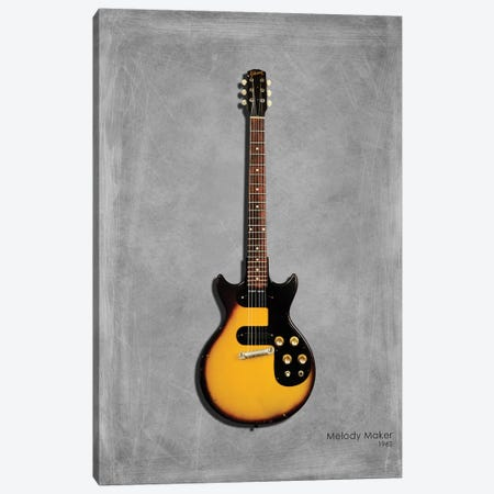Gibson Melody Maker '62 Canvas Print #RGN434} by Mark Rogan Canvas Wall Art