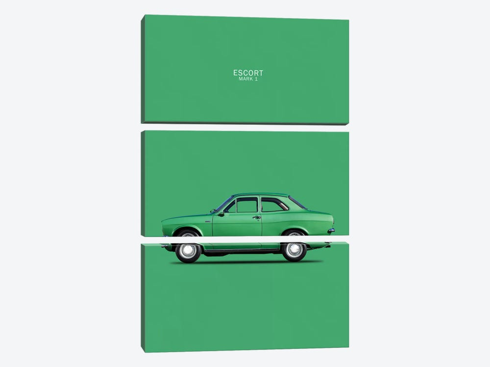 1968 Ford Escort Twin Cam Mark I by Mark Rogan 3-piece Canvas Art Print