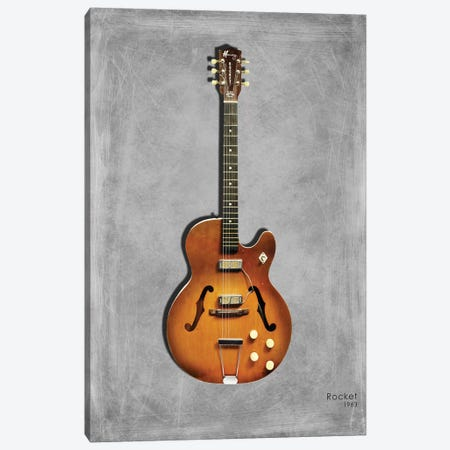 Harmony Rocket Semi-Acoustic '63 Canvas Print #RGN441} by Mark Rogan Canvas Art