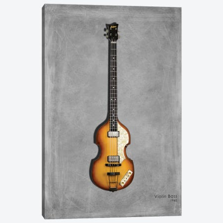 Hofner Violin Bass '62 Canvas Print #RGN442} by Mark Rogan Canvas Art