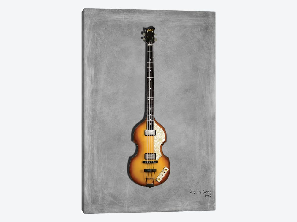 Hofner Violin Bass '62 by Mark Rogan 1-piece Canvas Artwork