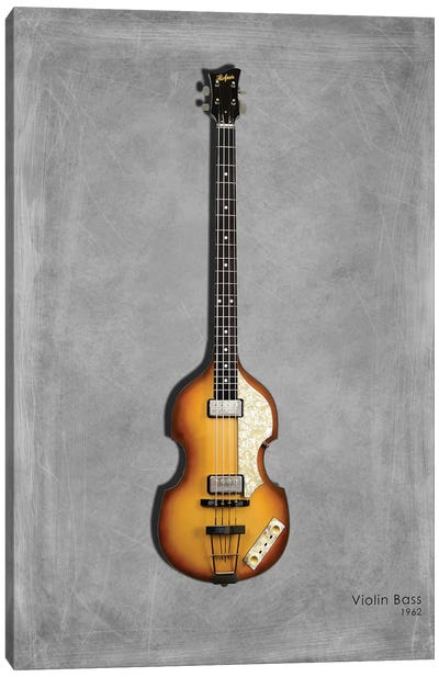 Hofner Violin Bass '62 Canvas Art Print
