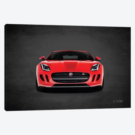 Jaguar F-Type, Front Canvas Print #RGN444} by Mark Rogan Canvas Art Print
