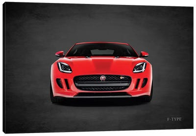 Jaguar F-Type, Front Canvas Art Print