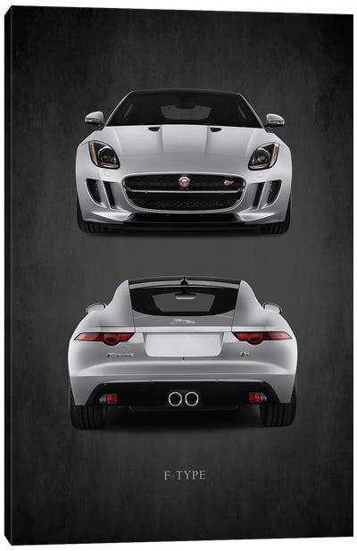 Jaguar F-Type, Front & Back Canvas Art Print
