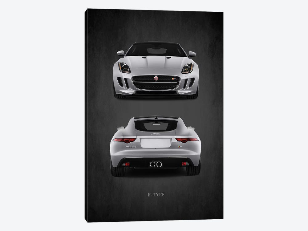 Jaguar F-Type, Front & Back by Mark Rogan 1-piece Canvas Art Print