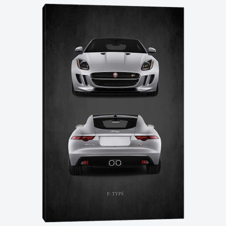 Jaguar F-Type, Front & Back 3-Piece Canvas #RGN445} by Mark Rogan Canvas Print