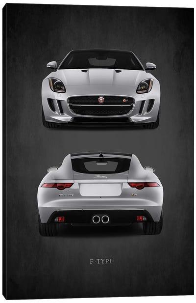 Jaguar F-Type, Front & Back Canvas Art Print