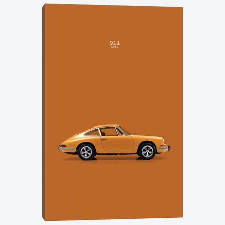 1968 Porsche 911 Canvas Print #RGN44} by Mark Rogan Canvas Print