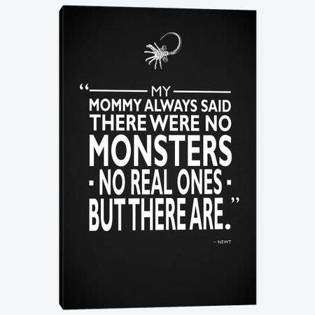 Aliens - No Monsters Canvas Print #RGN470} by Mark Rogan Art Print