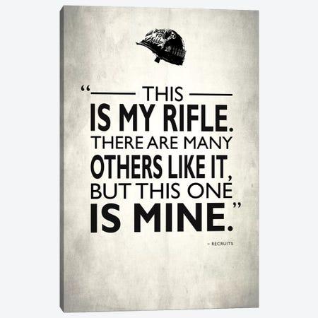 Full Metal Jacket - My Rifle Canvas Print #RGN479} by Mark Rogan Canvas Print