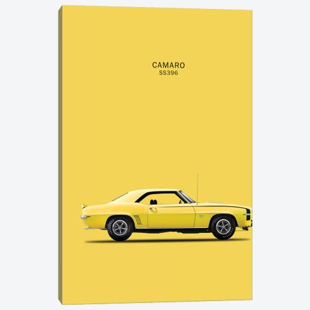 1969 Chevrolet Camaro SS396 Canvas Print #RGN47} by Mark Rogan Canvas Art Print