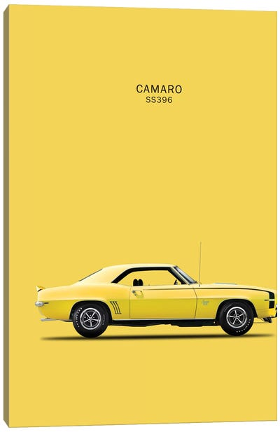 1969 Chevrolet Camaro SS396 Canvas Art Print
