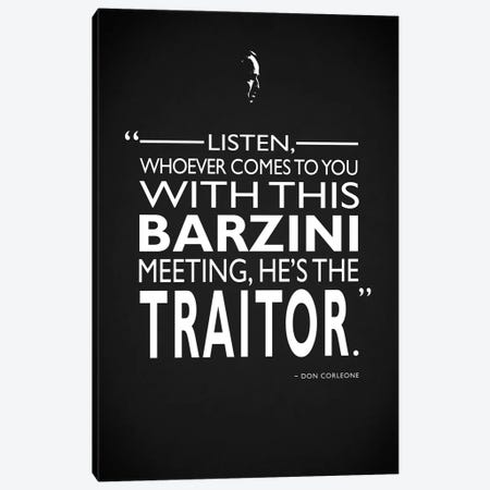Godfather - Barzini Traitor Canvas Print #RGN481} by Mark Rogan Canvas Art