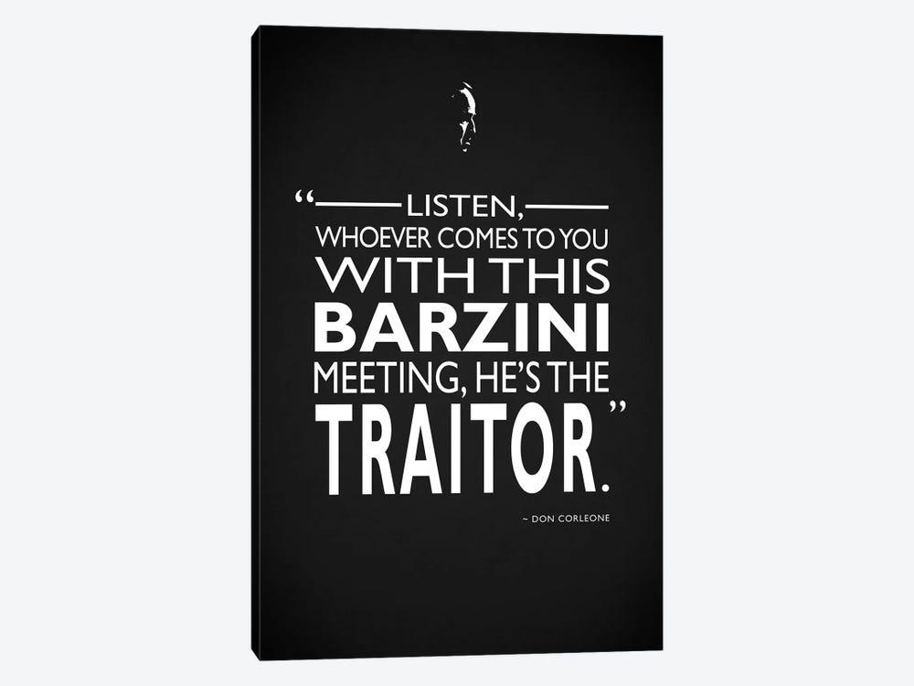 Godfather - Barzini Traitor by Mark Rogan 1-piece Canvas Print