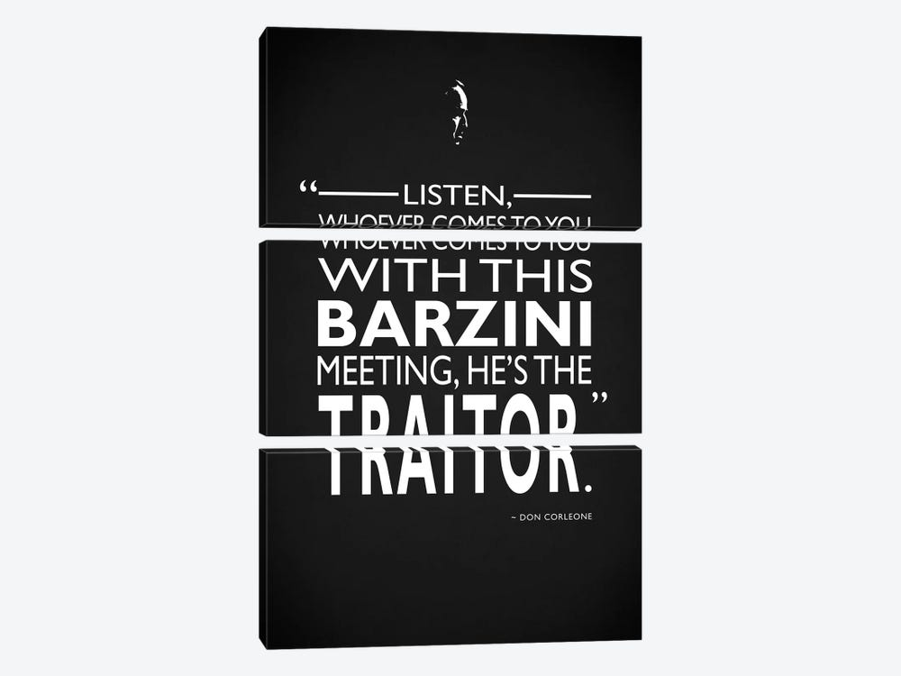 Godfather - Barzini Traitor by Mark Rogan 3-piece Canvas Art Print