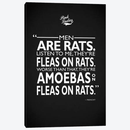 Grease - Men Are Rats Canvas Print #RGN487} by Mark Rogan Art Print
