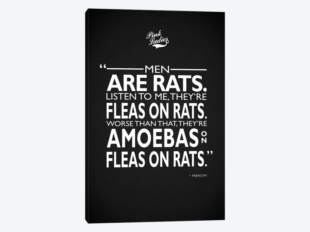 Grease - Men Are Rats by Mark Rogan 1-piece Art Print