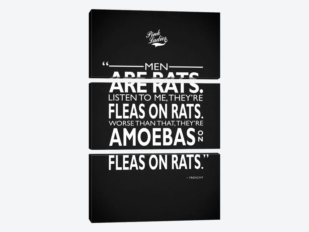 Grease - Men Are Rats by Mark Rogan 3-piece Art Print