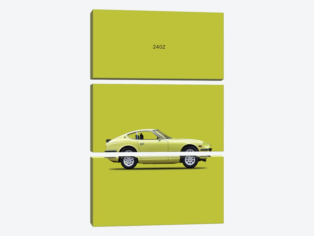 1969 Datsun 240Z by Mark Rogan 3-piece Canvas Artwork
