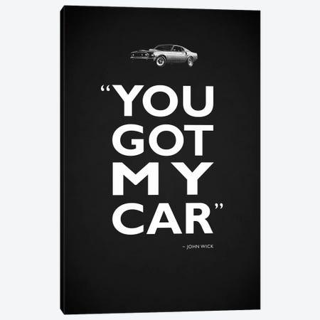 John Wick - Got My Car Canvas Print #RGN491} by Mark Rogan Canvas Art Print