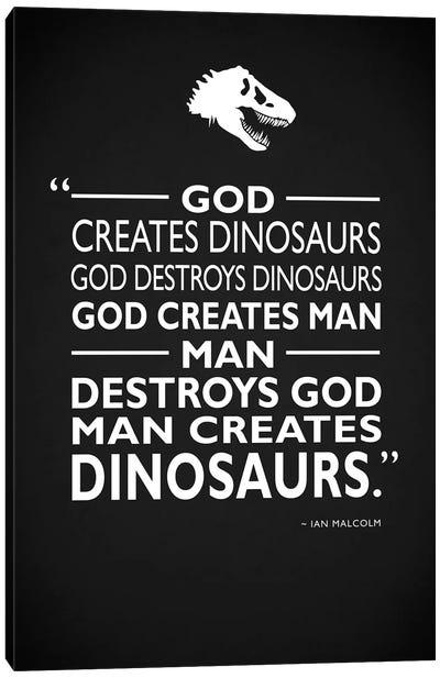 Jurassic Park - Creates Canvas Art Print