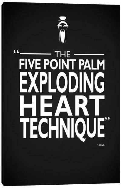 Kill Bill - Exploding Heart Canvas Art Print