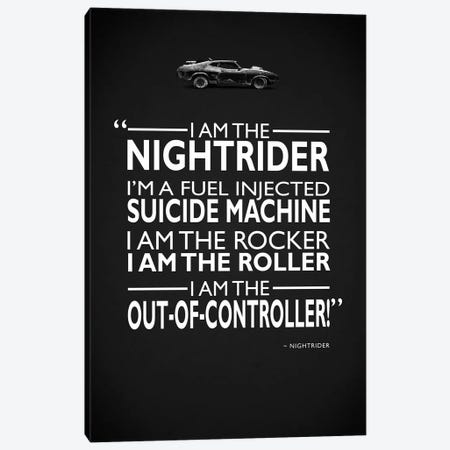 Mad Max - I Am The Nightrider Canvas Print #RGN496} by Mark Rogan Canvas Wall Art