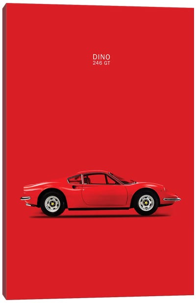 1969 Ferrari Dino 246 GT Canvas Art Print