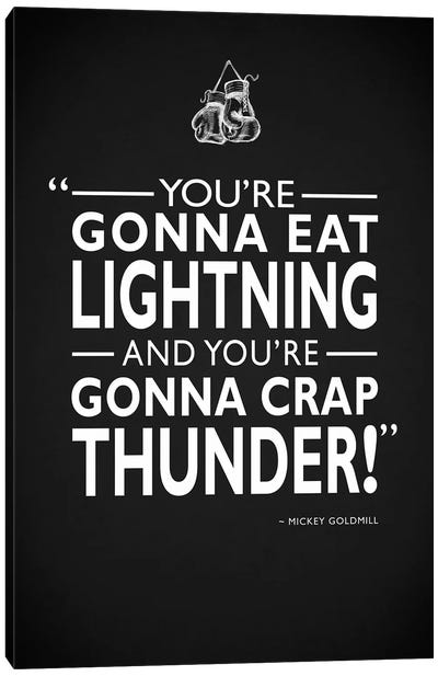 Rocky - Gonna Eat Lightning Canvas Art Print