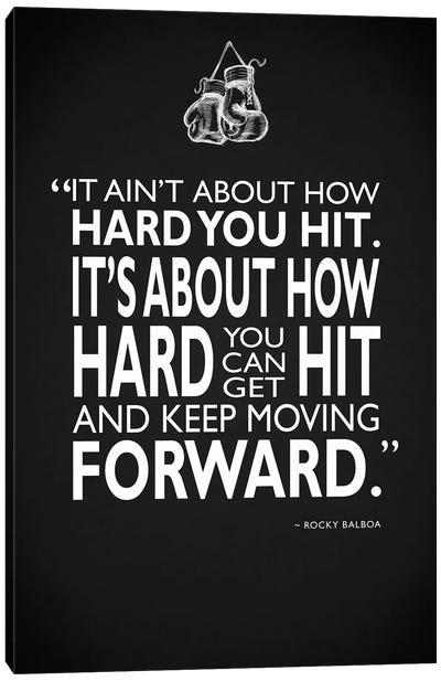 Rocky - How Hard You Hit Canvas Art Print