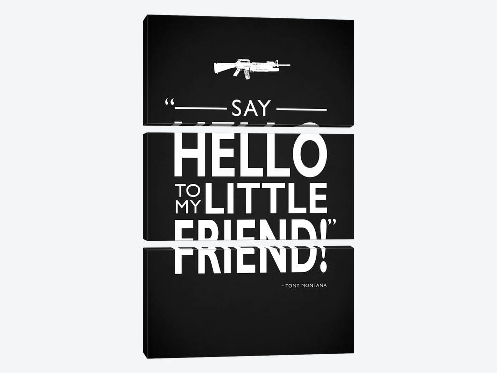 Scarface - Say Hello by Mark Rogan 3-piece Canvas Print