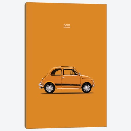 1969 Fiat 500 Abarth Canvas Print #RGN50} by Mark Rogan Art Print