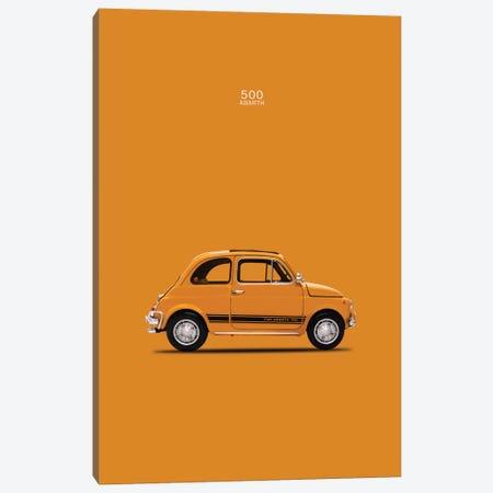1969 Fiat 500 Abarth 3-Piece Canvas #RGN50} by Mark Rogan Art Print
