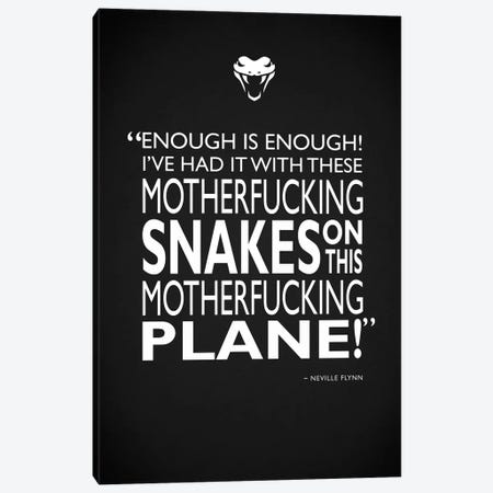 Snakes On A Plane Canvas Print #RGN510} by Mark Rogan Canvas Art
