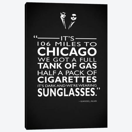 The Blues Brothers -Sunglasses Canvas Print #RGN514} by Mark Rogan Canvas Print