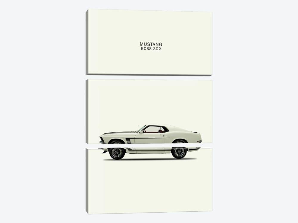 1969 Ford Mustang Boss 302 by Mark Rogan 3-piece Canvas Artwork