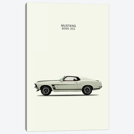 1969 Ford Mustang Boss 302 Canvas Print #RGN51} by Mark Rogan Canvas Art Print