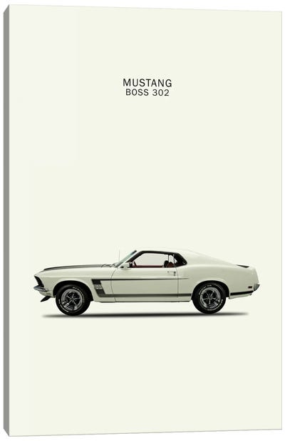 1969 Ford Mustang Boss 302 Canvas Print #RGN51