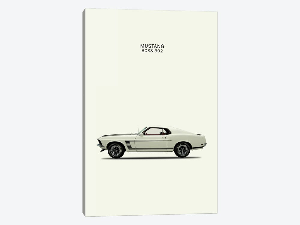 1969 Ford Mustang Boss 302 by Mark Rogan 1-piece Canvas Art