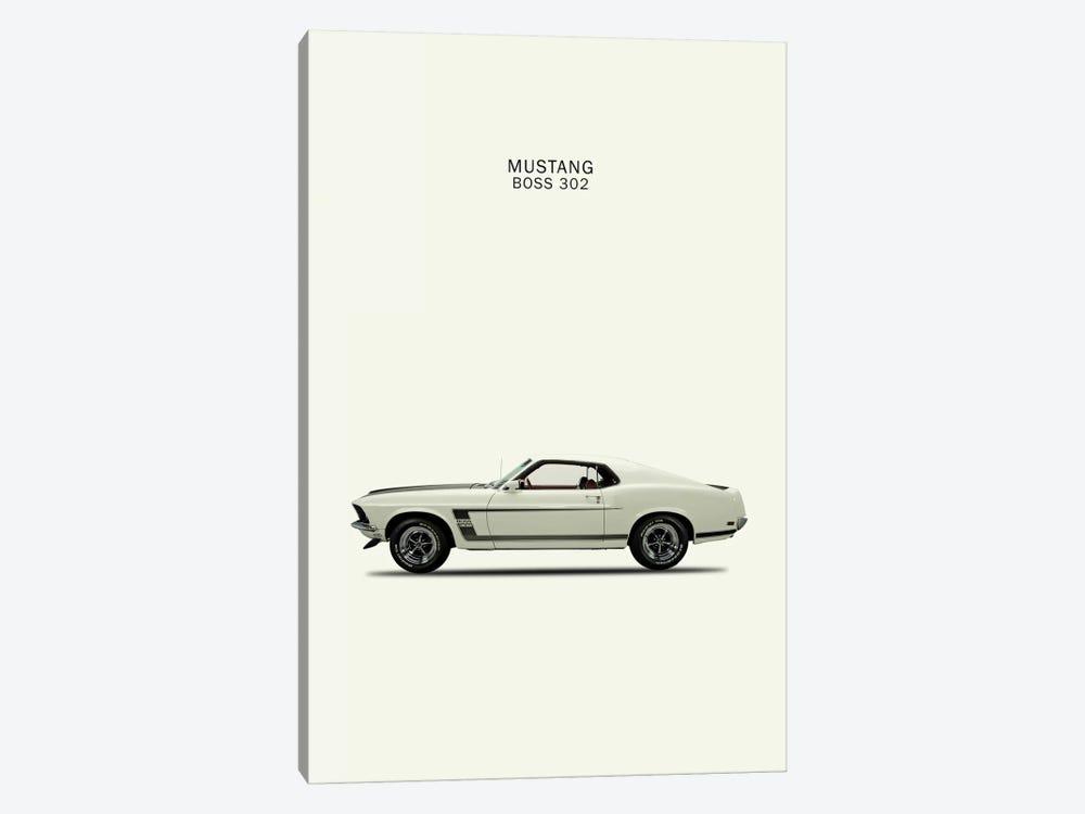 1969 ford mustang boss 302 canvas print by mark rogan