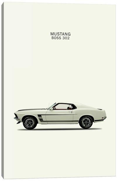 1969 Ford Mustang Boss 302 Canvas Art Print