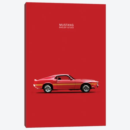 1969 Ford Mustang Shelby GT350 (Red) Canvas Print #RGN52} by Mark Rogan Art Print