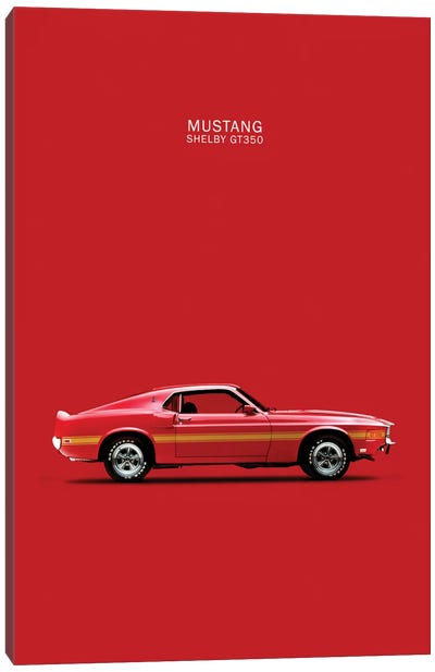 1969 Ford Mustang Shelby GT350 (Red) Canvas Print #RGN52