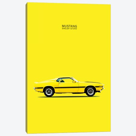 1969 Ford Mustang Shelby GT350 (Yellow) Canvas Print #RGN53} by Mark Rogan Canvas Print
