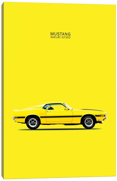 1969 Ford Mustang Shelby GT350 (Yellow) Canvas Art Print