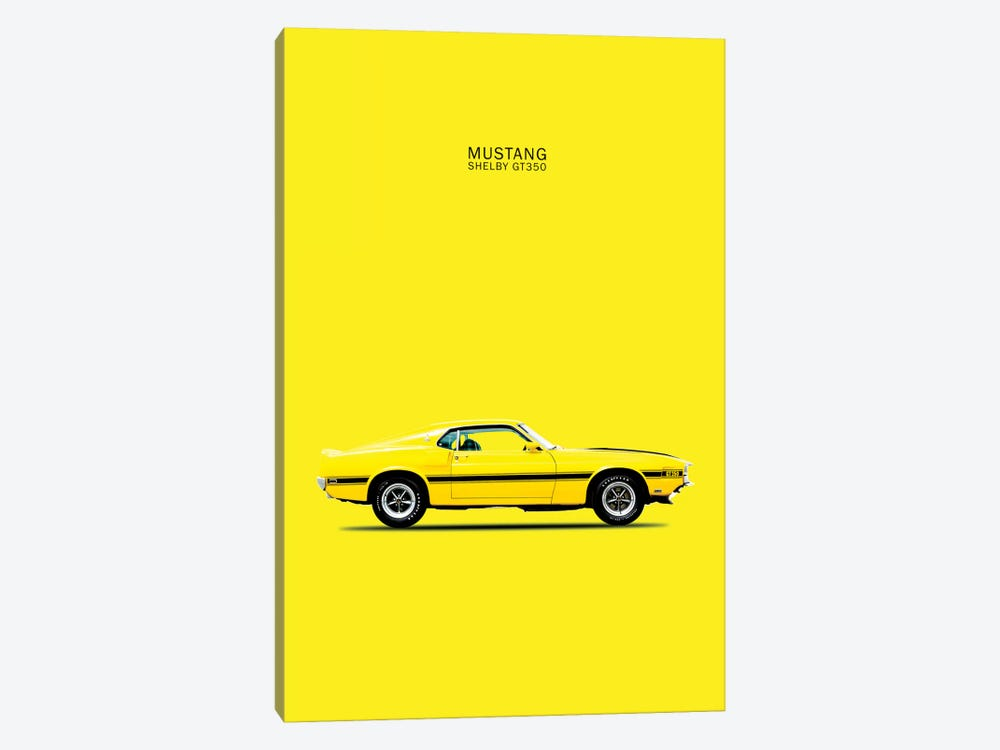 1969 Ford Mustang Shelby GT350 (Yellow) by Mark Rogan 1-piece Canvas Art