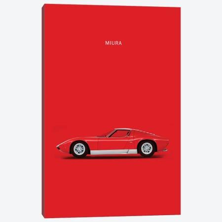 1969 Lamborghini Miura Canvas Print #RGN54} by Mark Rogan Canvas Art